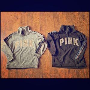 Pink cowl necks